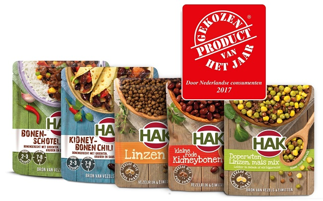 Voted product of the year 2017 – HAK stand-up pouch with beans